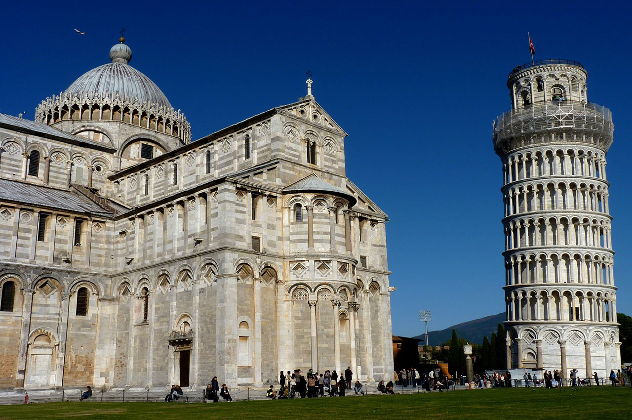 Piazza dei Miracoli - The Cathedral and the Leaning Tower in Pisa
